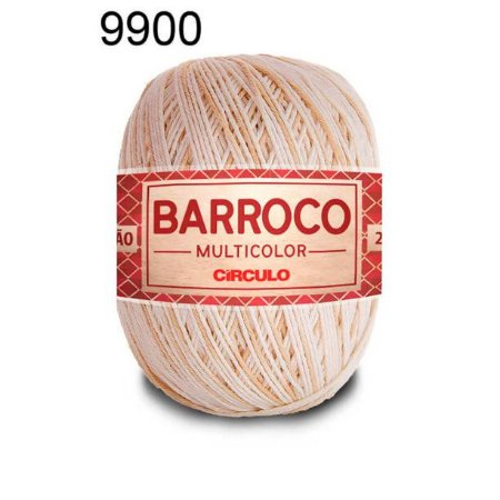 Barbante Barroco Multicolor 6 fios Cor 9900 Areia 226 Metros 200 Gramas