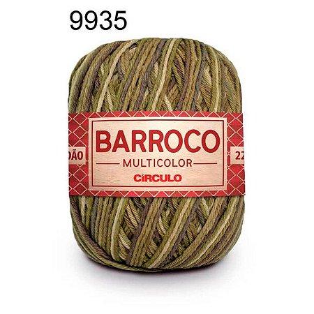 Barbante Barroco Multicolor 6 fios Cor 9935 Folha de Louro 226 Metros 200 Gramas