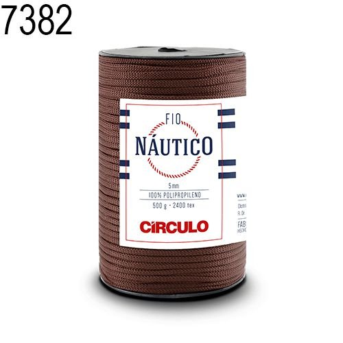 Fio Náutico 500gr Cor 7382 Chocolate - Círculo