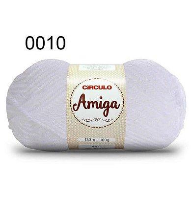 Lã Amiga Cor 0010 Branca 100 Gramas