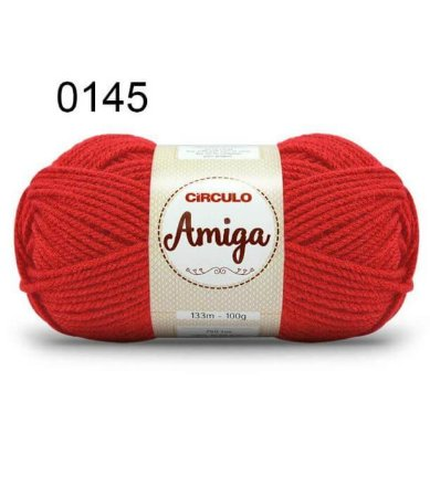 Lã Amiga Cor 0145 Chama 100 Gramas