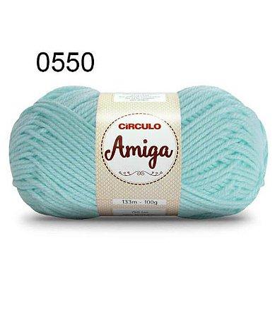 Lã Amiga Cor 0550 Verde Candy 100 Gramas