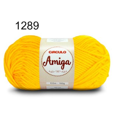 Lã Amiga Cor 1289 Canario 100 Gramas