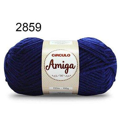 Lã Amiga Cor 2859 Marinho 100 Gramas
