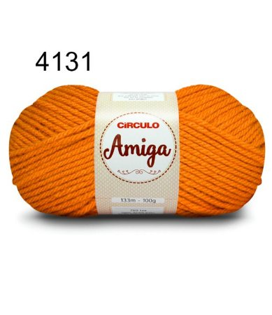 Lã Amiga Cor 4131 Dark Cheddar 100 Gramas