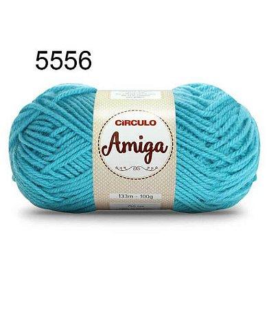 Lã Amiga Cor 5556 Tiffany 100 Gramas
