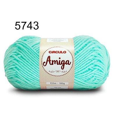 Lã Amiga Cor 5743 Neo Mint 100 Gramas