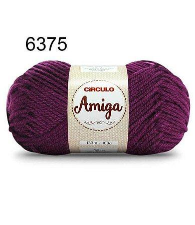 Lã Amiga Cor 6375 Uva 100 Gramas
