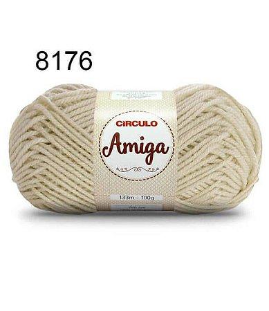 Lã Amiga Cor 8176 Off White 100 Gramas