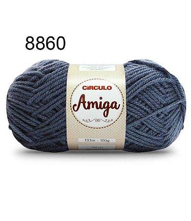 Lã Amiga Cor 8860 Noturno 100 Gramas