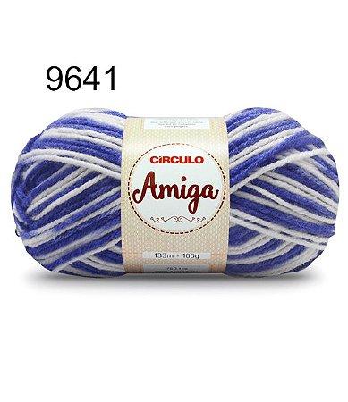 Lã Amiga Cor 9641 Onda 100 Gramas