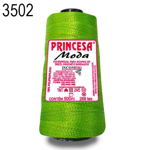 Linha Princesa Moda Cor 3502 Verde 500 Metros