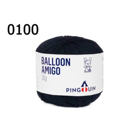 Linha Ballon Amigo Cor 0100 Preto 50 Gramas 150 Metros