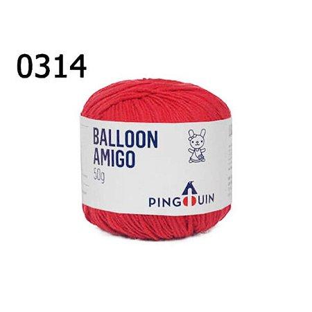 Linha Ballon Amigo Cor 0314 Tomate 50 Gramas 150 Metros