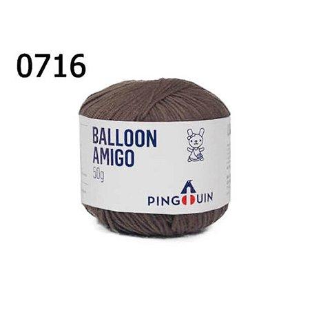 Linha Ballon Amigo Cor 0716 Marrom 50 Gramas 150 Metros