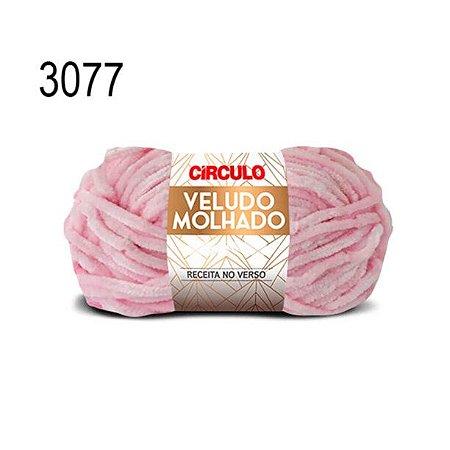 Lã Veludo Molhado Cor 3077 Rosa 100 Gramas