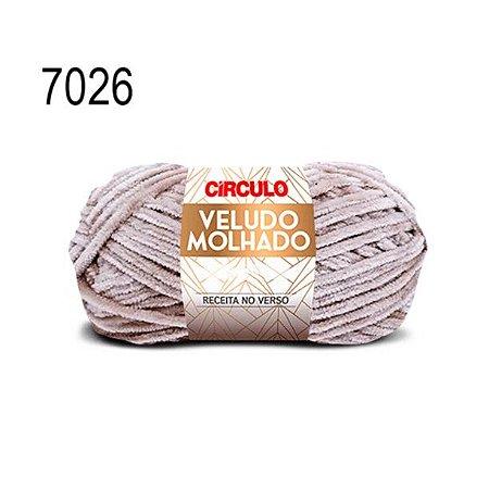 Lã Veludo Molhado Cor 7026 Bege 100 Gramas