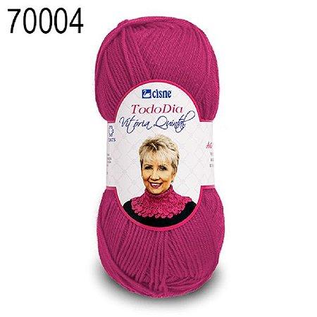 Lã Todo Dia Vitória Quintal Cor 70004 Pink 100 Gramas 250 Metros