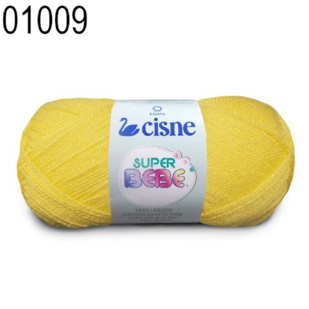 Lã Super Bebê Cor 01009 Amarelo Ouro 100 Gramas 467 Metros