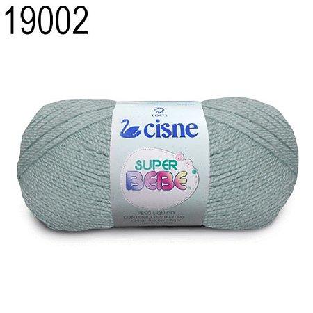 Lã Super Bebê Cor 19002 Cinza 100 Gramas 467 Metros