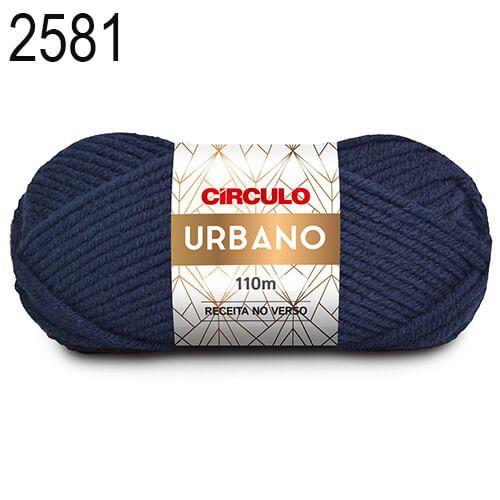 Lã Urbano Cor 2581 Anil Profundo 100 Gramas 110 Metros