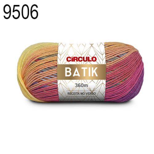 Lã Batik Cor 9506 Sereia 100 Gramas 360 Metros