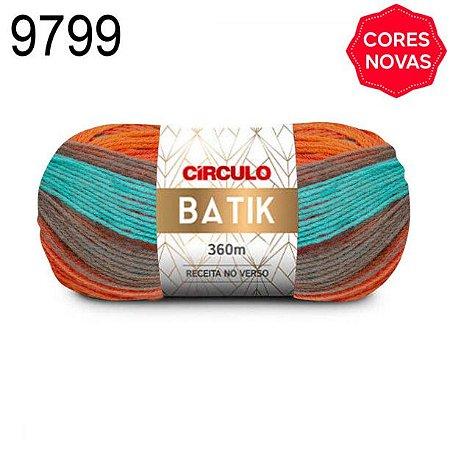 Lã Batik Cor 9799 Verão 100 Gramas 360 Metros