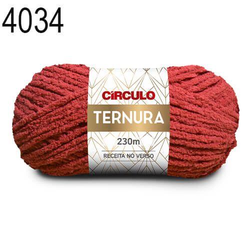 Lã Ternura Cor 4034 Vermelho 100 Gramas 230 Metros