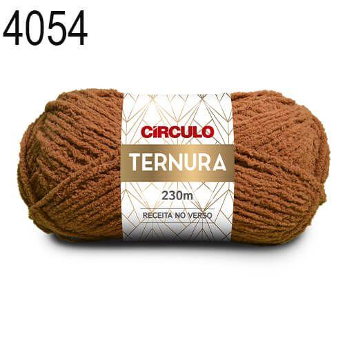 Lã Ternura Cor 4054 Marrom 100 Gramas 230 Metros
