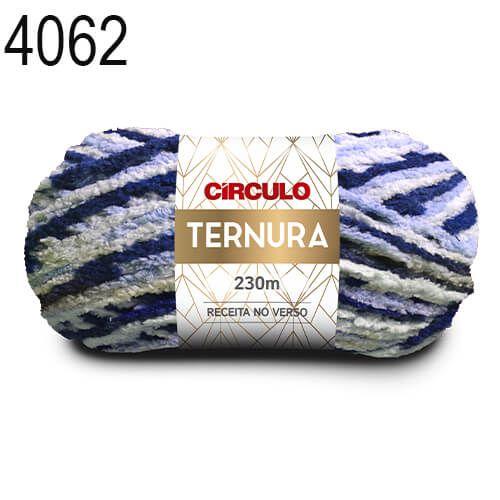 Lã Ternura Cor 4062 Mescla Azul 100 Gramas 230 Metros