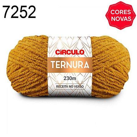 Lã Ternura Cor 7252 Dark Cheddar 100 Gramas 230 Metros