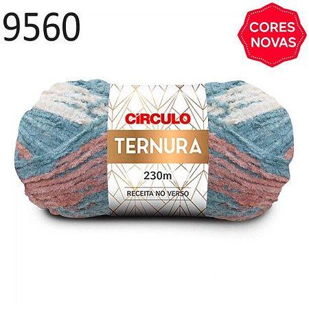 Lã Ternura Cor 9560 Pedreira 100 Gramas 230 Metros