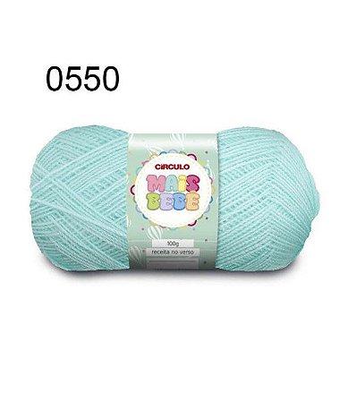 Lã Mais Bebê Cor 0550 Verde Candy 100 Gramas 500 Metros