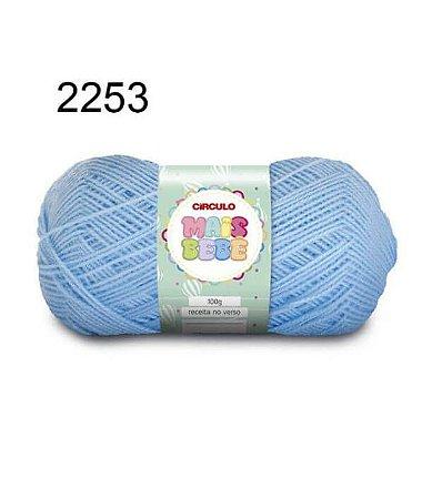 Lã Mais Bebê Cor 2253 Azul Candy 100 Gramas 500 Metros