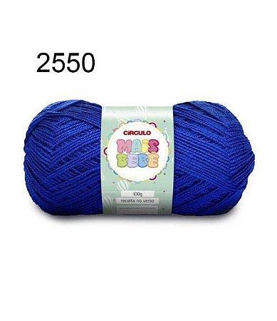 Lã Mais Bebê Cor 2550 Azul Bic 100 Gramas 500 Metros