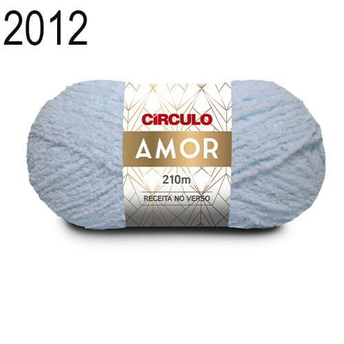 Lã Amor Cor 2012 Azul Candy 100 Gramas 210 Metros