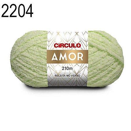 Lã Amor Cor 2204 Verde Candy 100 Gramas 210 Metros