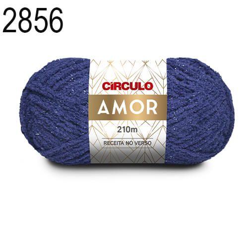 Lã Amor Cor 2856 Marinho 100 Gramas 210 Metros