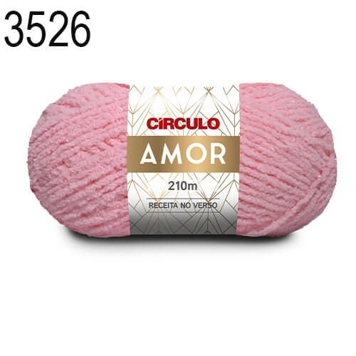Lã Amor Cor 3526 Rosa Candy 100 Gramas 210 Metros