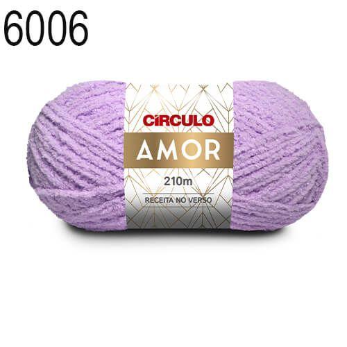 Lã Amor Cor 6006 Lilás Candy 100 Gramas 210 Metros