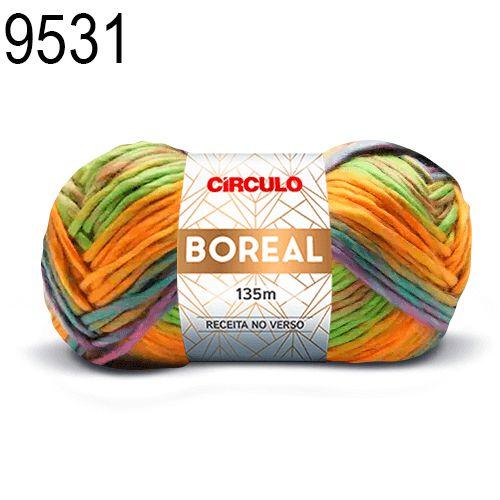 Lã Boreal Cor 9531 Dália 100 Gramas 135 Metros