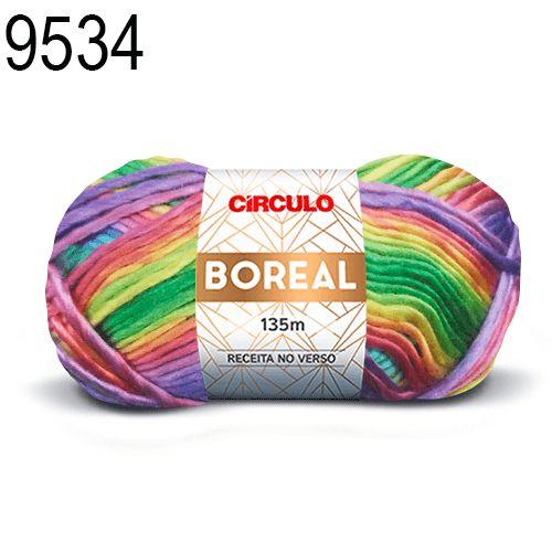 Lã Boreal Cor 9534 Iris 100 Gramas 135 Metros