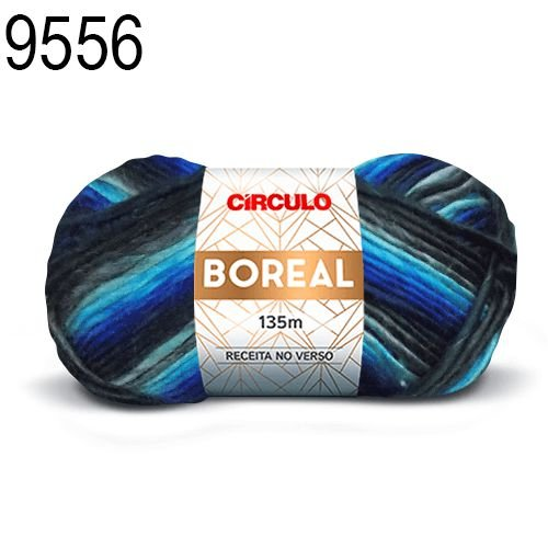 Lã Boreal Cor 9556 Linum 100 Gramas 135 Metros