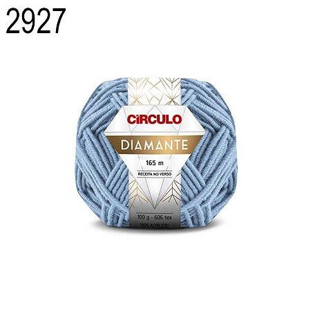 Lã Diamante Cor 2927 Aquário 100 Gramas 165 Metros
