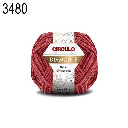 Lã Diamante Cor 3480 Maça 100 Gramas 165 Metros
