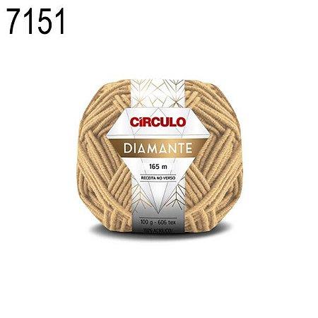 Lã Diamante Cor 7151 Palmier 100 Gramas 165 Metros