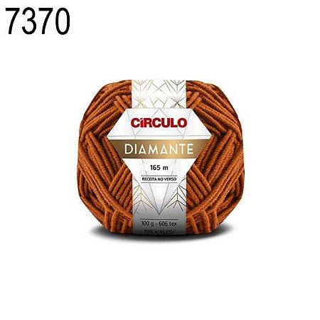 Lã Diamante Cor 7370 Gruta 100 Gramas 165 Metros
