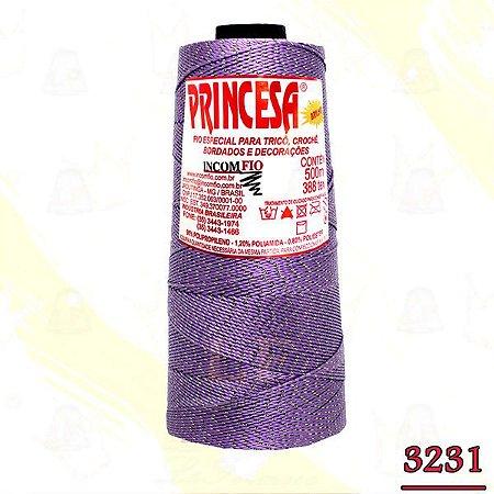 Linha Princesa Brilho Cor 3231 Violeta com Ouro 500 Metros