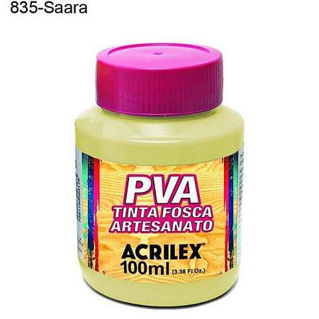 Tinta PVA Fosca para Artesanato Cor 835 Saara 100ml Acrilex