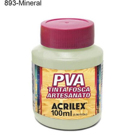 Tinta PVA Fosca para Artesanato Cor 893 Mineral 100ml Acrilex